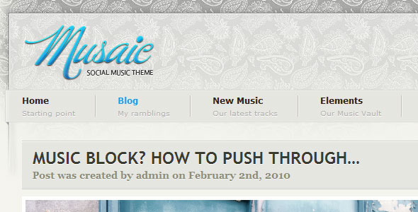 Musaic - Music WordPress Theme Free Download by ThemeForest.