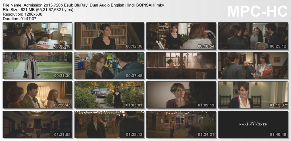 Download Admission 2013 720p Esub BluRay  Dual Audio English Hindi GOPISAHI Torrent