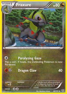 Fraxure Plasma Blast Pokemon Card