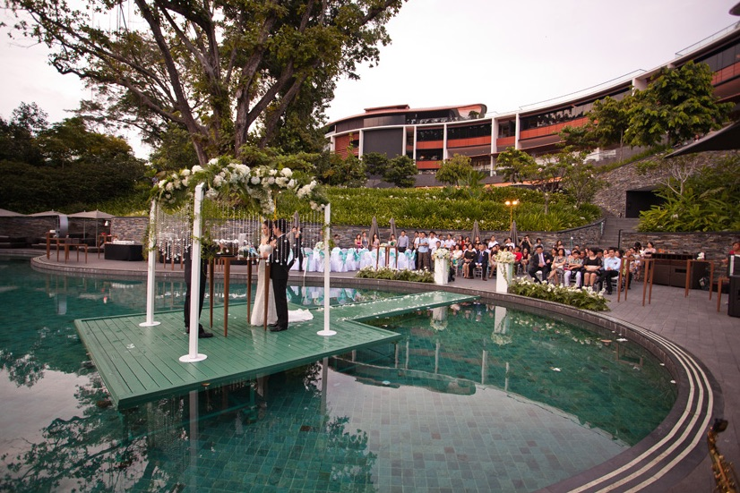Capella Hotel Singapore Poolside Wedding Photo Source Storiesmy Colin Yee Xing At Sentosa