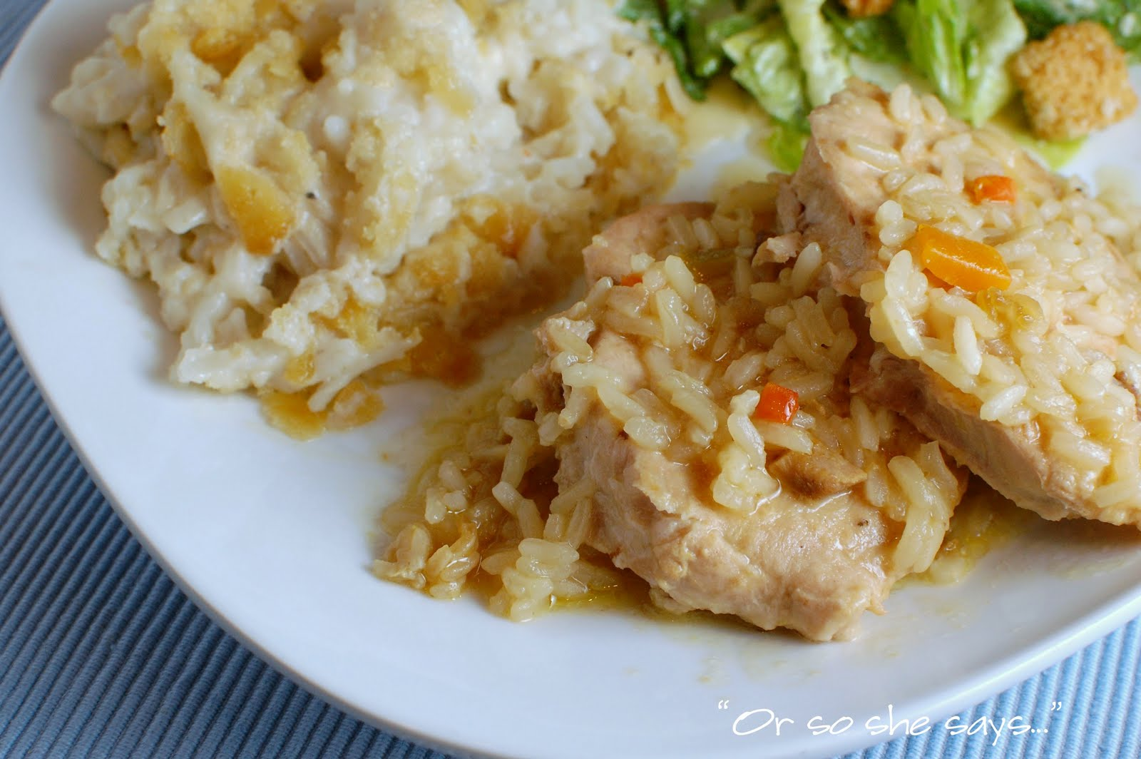 Crockpot recipes pork chops rice