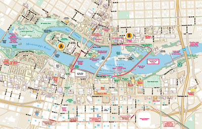 Minneapolis map of river front