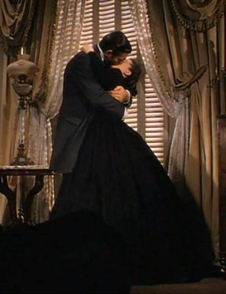 Gone with the wind scarlett and rhett kiss