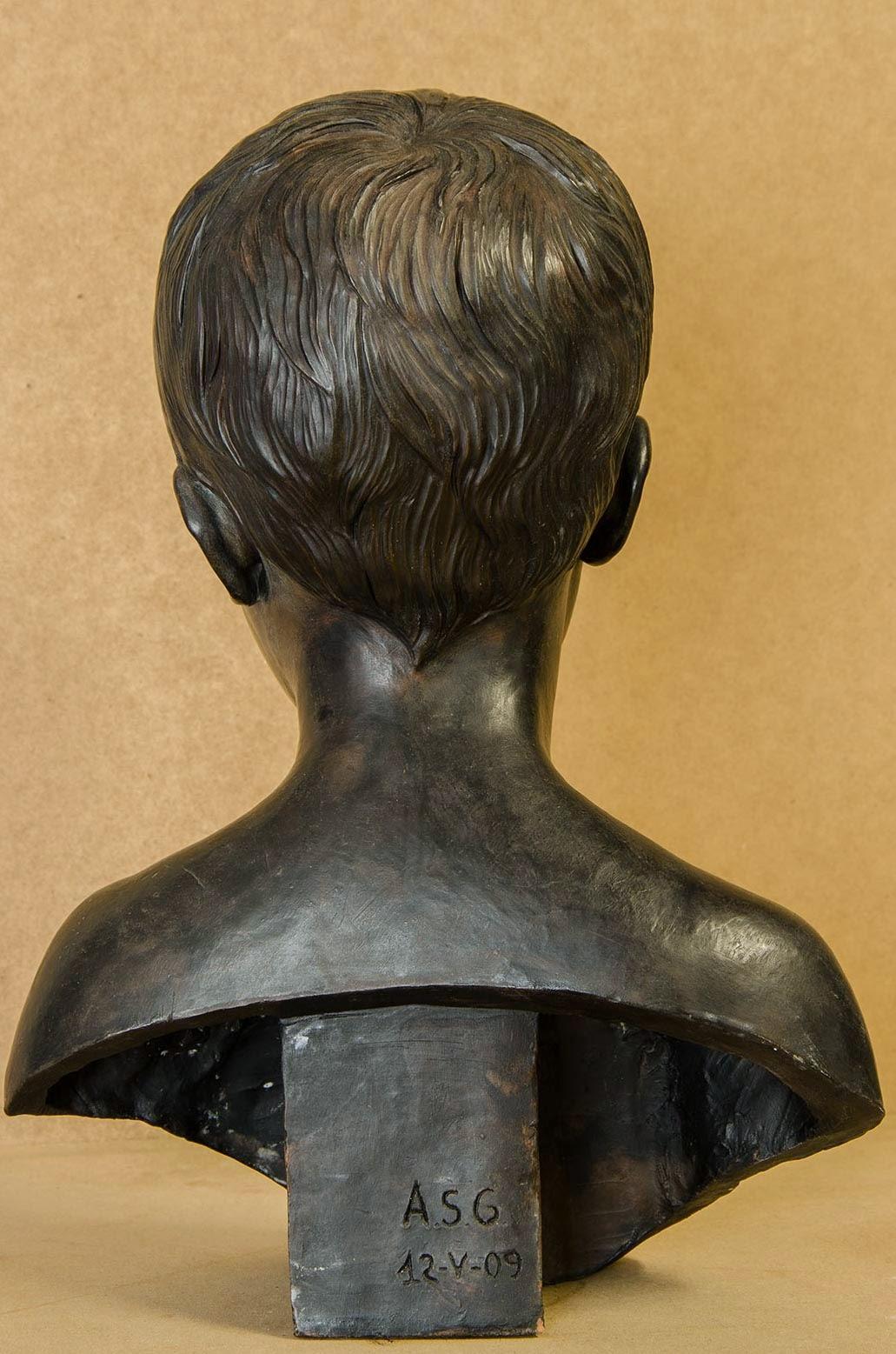 Retrato escultura barro cocido 5
