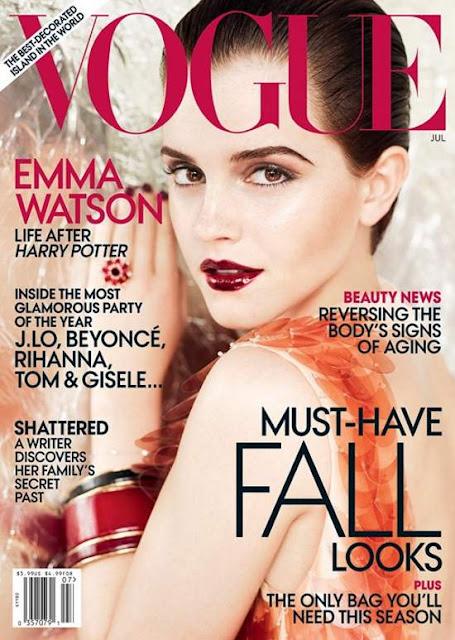 emma watson vogue cover us. US Vogue July 2011 Emma Watson
