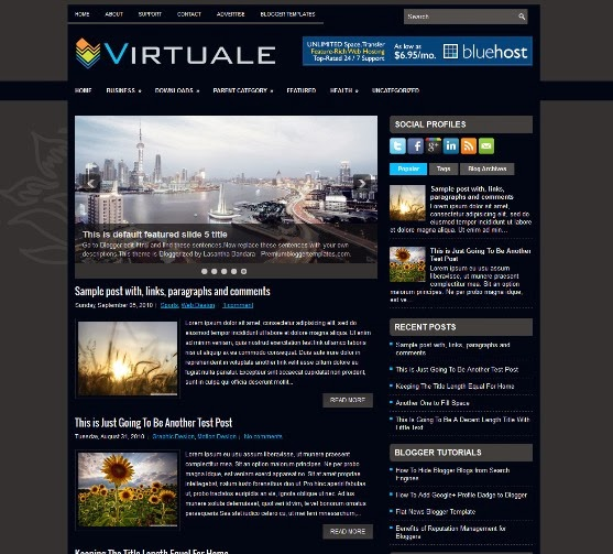 Virtuale - Two Column Blogger Template