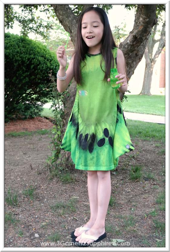 KidCuteture Fiona Kiwi Dress for Girls     www.3Garnets2Sapphires.com
