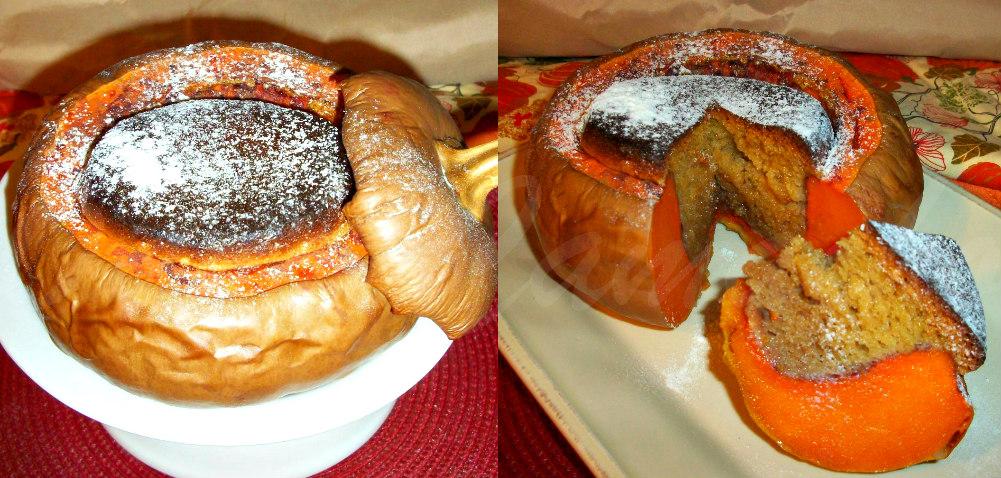 ... ! : CHEC DUKAN COPT INTR-UN DOVLEAC (DUKAN CAKE BAKED IN A PUMPKIN