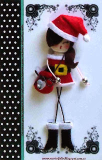 Susies, christmas, broches, fieltro, muñecas, navidad, handmade