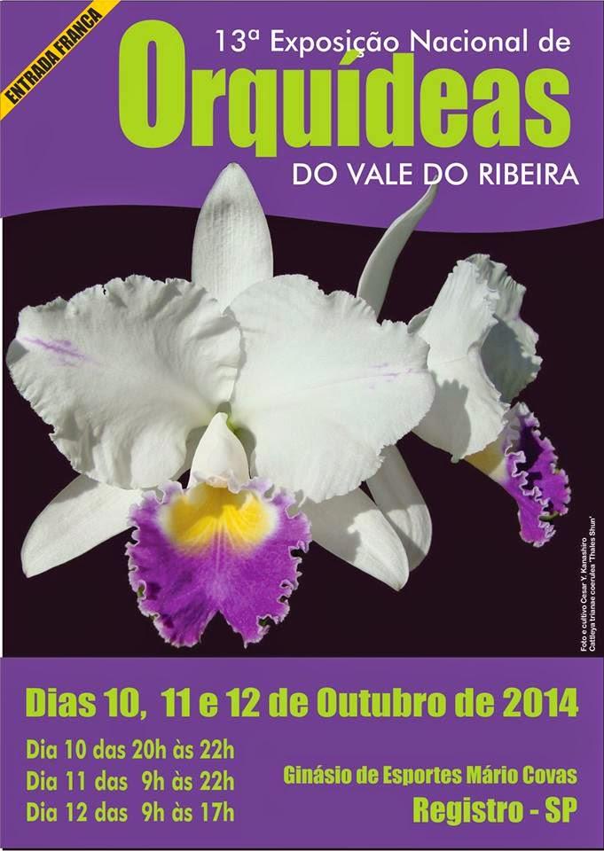 13ª Exposição Nacional de Orquídeas do Vale do Ribeira