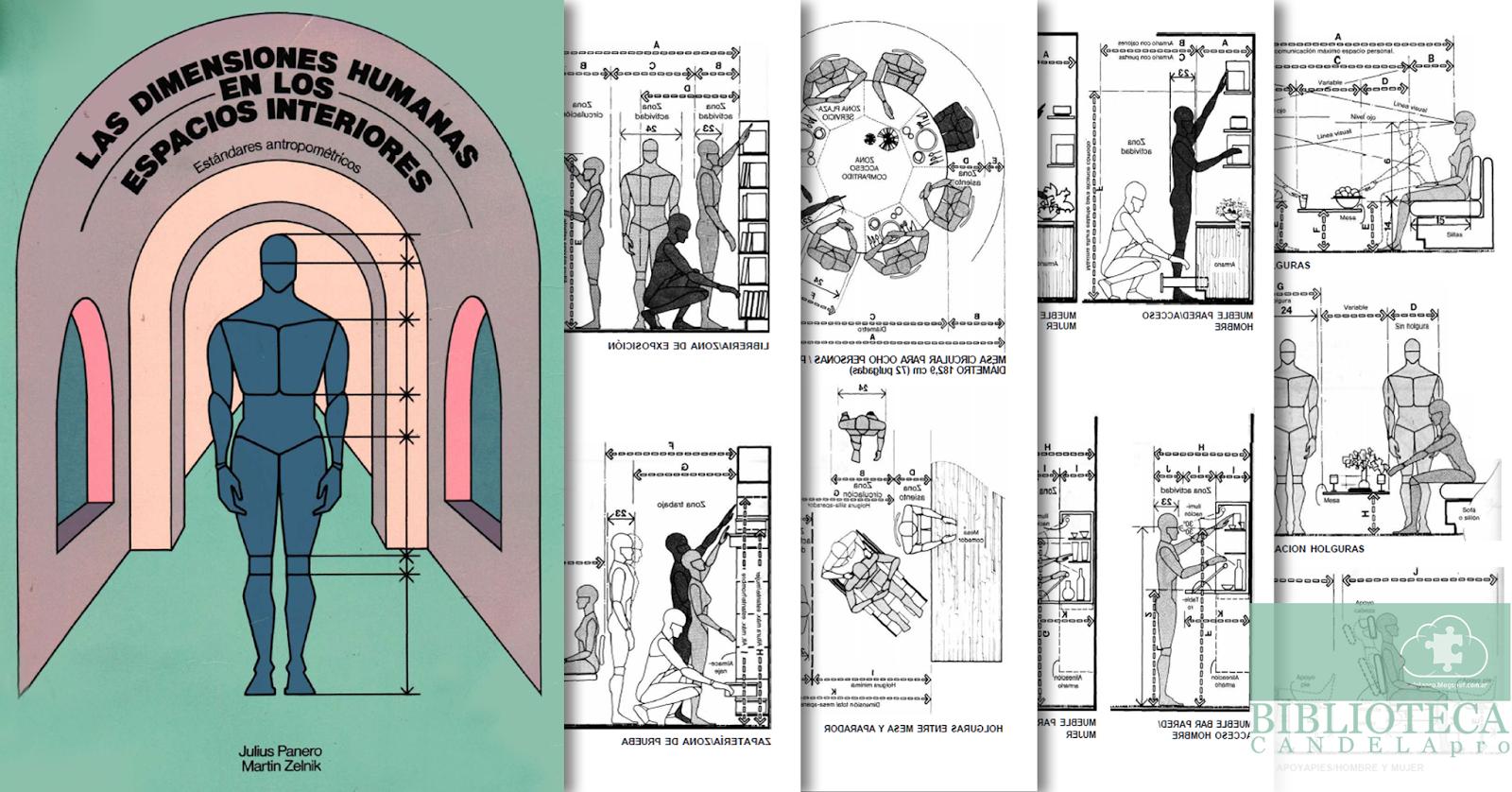Candela pro las dimensiones humanas en los espacios for Antropometria de la vivienda