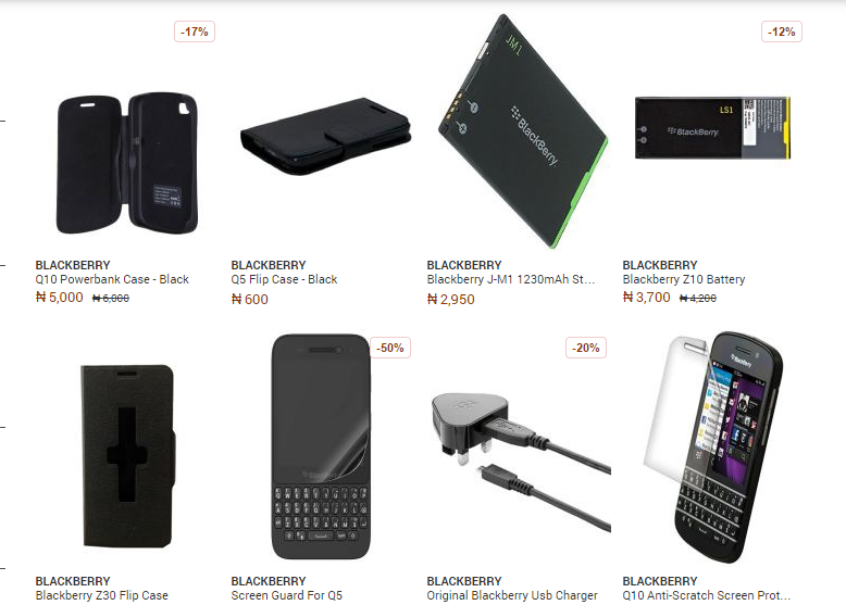 Phone Accessories Nigeria Blackberry Phone Accessories