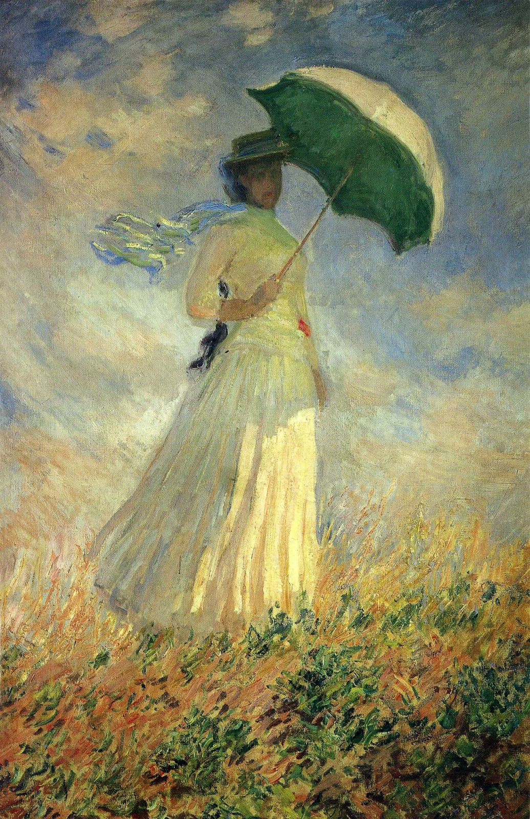 art artists claude monet part  claude monet 1886 w a parasol oil on canvas 130 5 x 89 3 cm museacutee d orsay paris