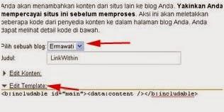 Membuat Artikel Terkait dengan Linkwithin