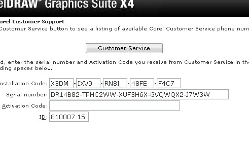 corel draw x5 serial number and activation code free