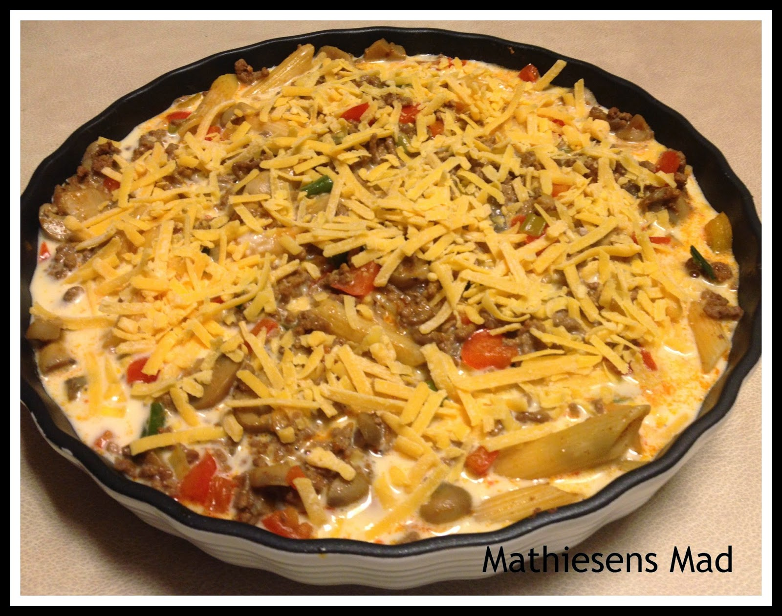 tærte med pasta