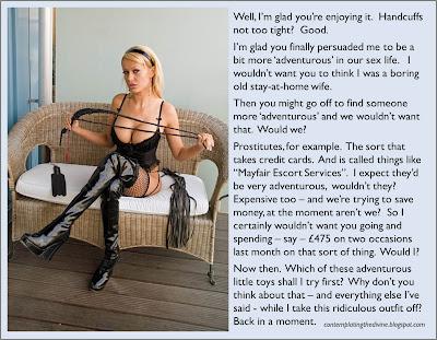 Adventurous femdom wife