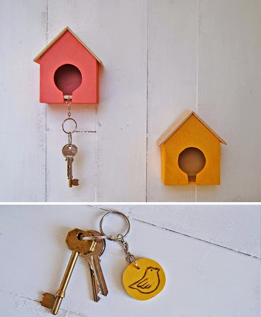 gantungan kunci unik rumah burung