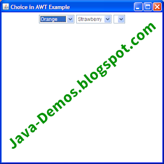 Creating AWT Choice in Java
