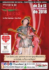 PROGRAMAÇÃO FESTA DE SANTA LUZIA 2018