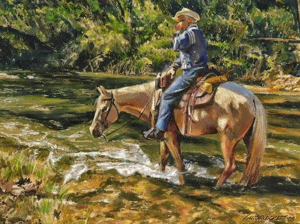 pinturas-de-caballos-con-vaqueros