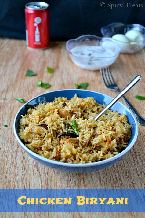 Spicy treats chicken biryani easy chicken biryani using yogurtcurd ccuart
