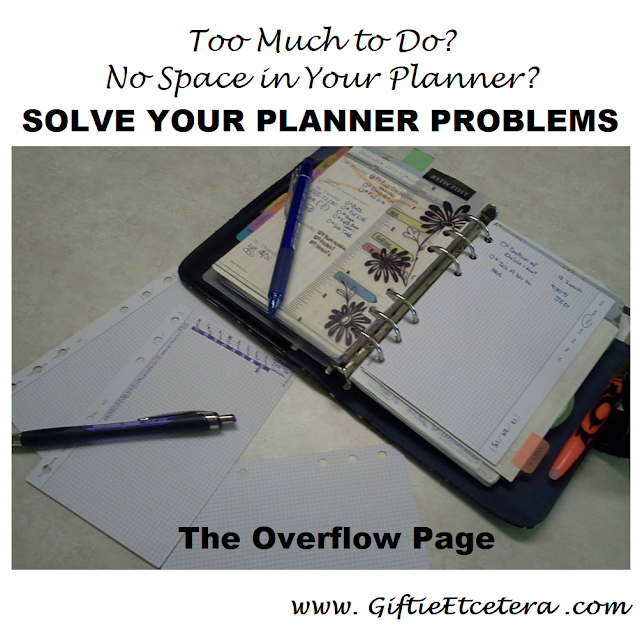 planner, flower page marker, frixion pen, overflow page, daily docket