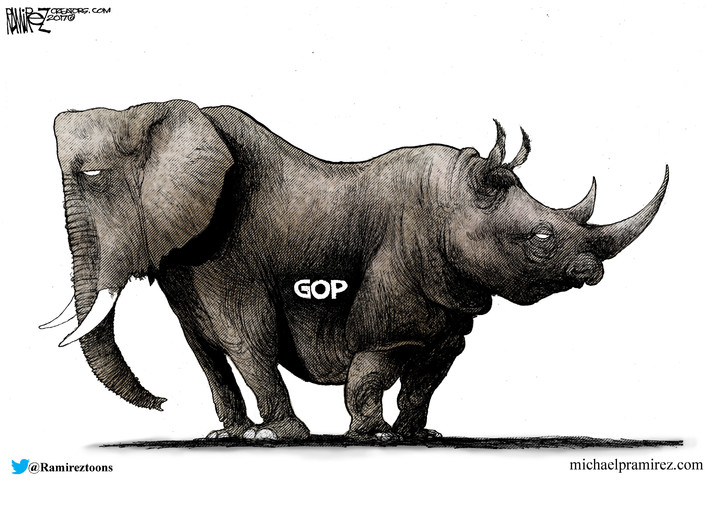 GOP  vs Trump