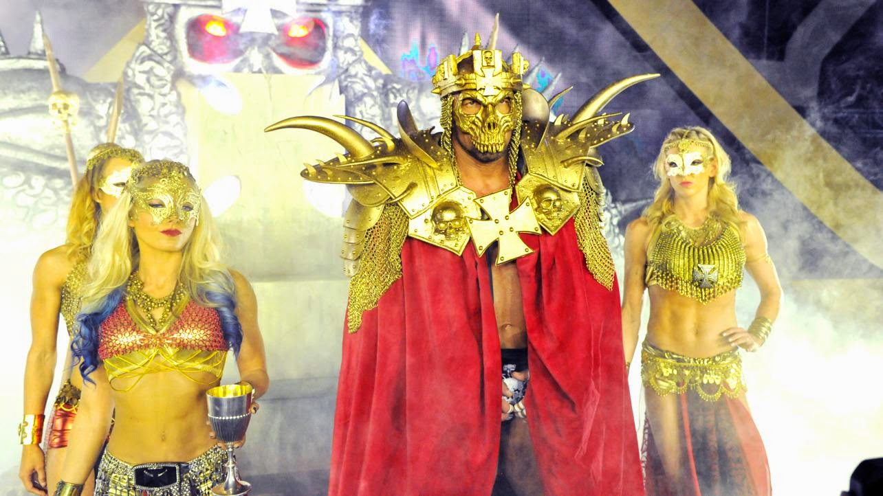 Triple H WrestleMania 30 XXX entrance attire girls Shao Kahn Mortal Kombat King of Kings