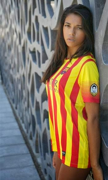 Sexy girls in barcelona jerseys