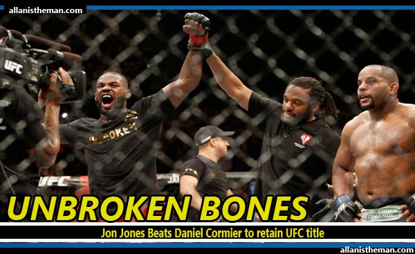 Jon Jones Beats Daniel Cormier to retain UFC title (FULL FIGHT REPLAY VIDEO)