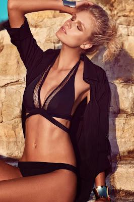 Dutch model Fabienne Hagedorn looks sensual for Moeva swimwear collection