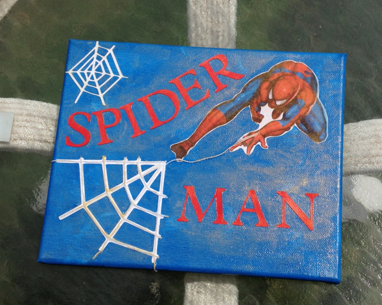 Marilyn S Crafts Spiderman Superhero Wall Canvas