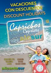 Alicante Sur hoteles solicita tu tarjeta de descuentos