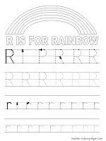 Rainbow Alphabet Tracer Pages