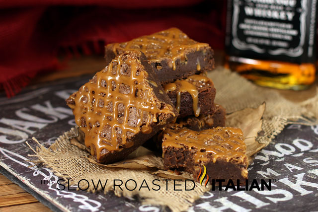 ... - Printable Recipes: Jack Daniel's Salted Caramel Fudge Brownie