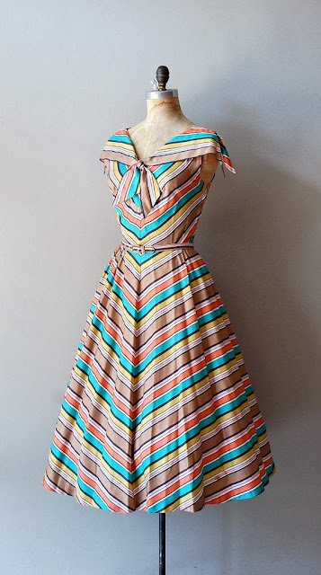 Colorful Cotton Belt Dress