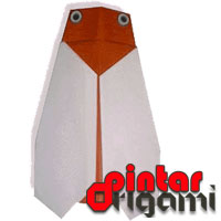 Cara Membuat Origami Jangkrik 2