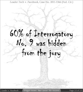 60% of Interrogatory No. 9 was hidden from the jury