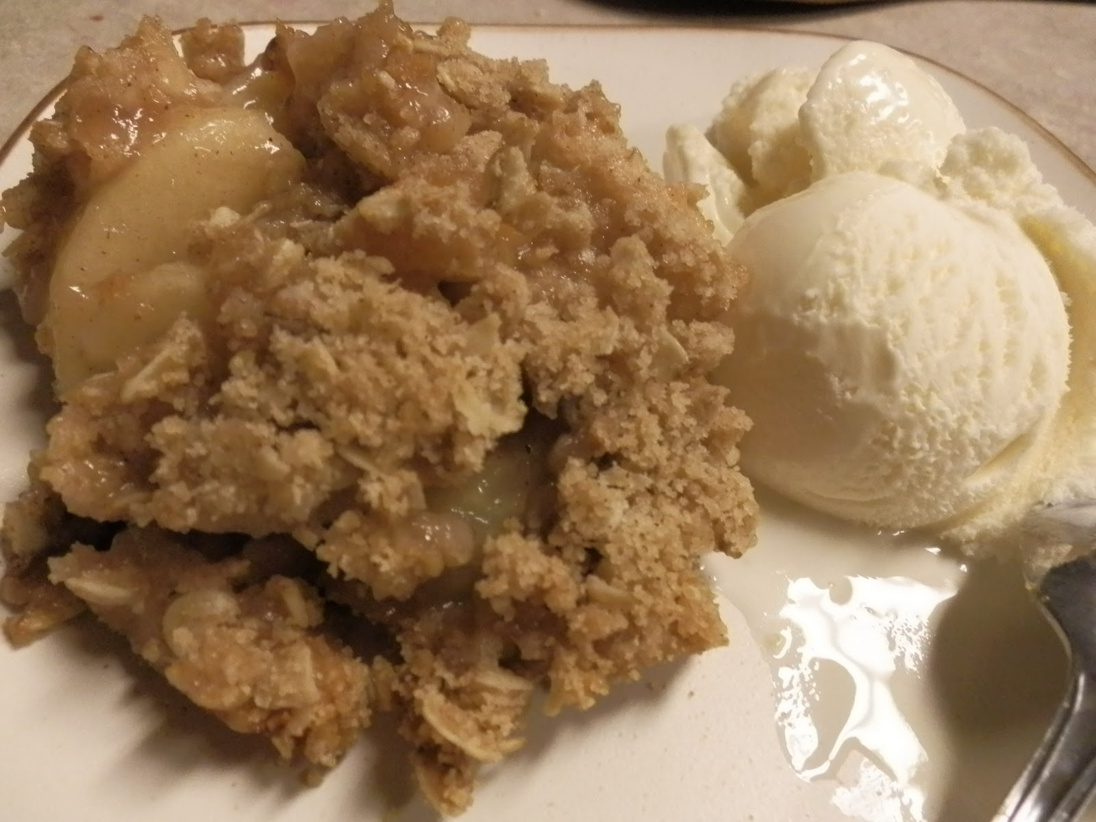 Apple Crisp with Canned Apples