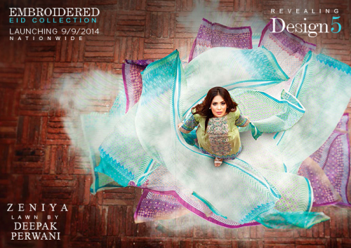 Zeniya Eid Embroidered Lawn Collection 2014