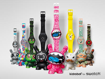 Kidrobot for Swatch Watch and Dunny Sets