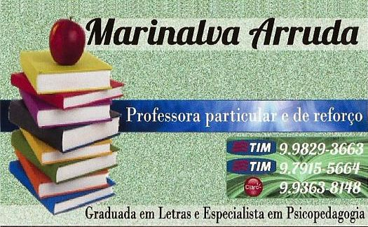 PROFESSORA PARTICULAR MARINALVA ARRUDA