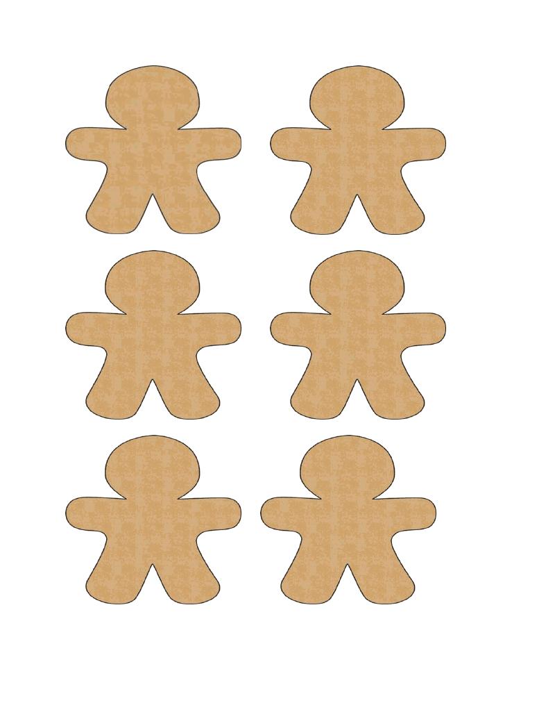 Gingerbread Man Cut Out Gingerbread men cutouts