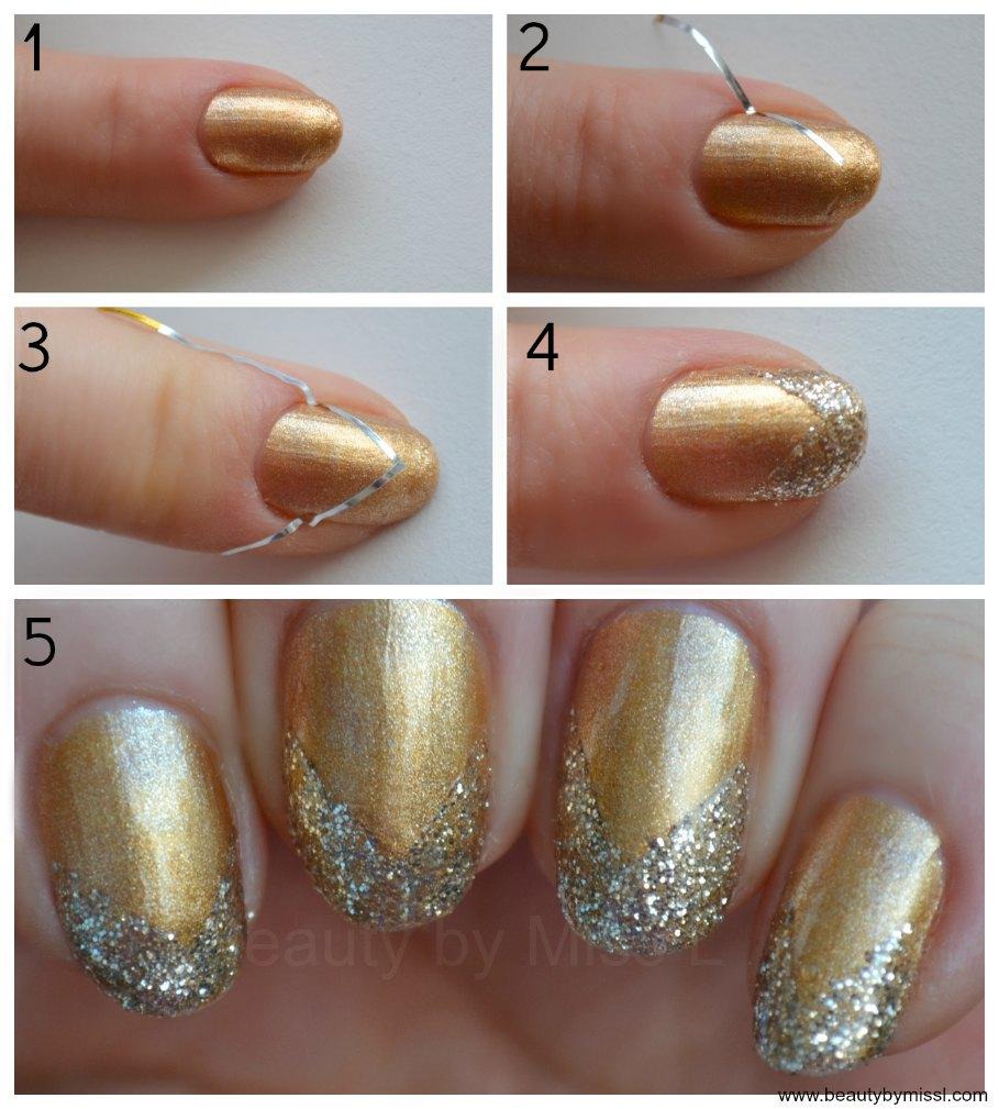 simple glitter manicure tutorial