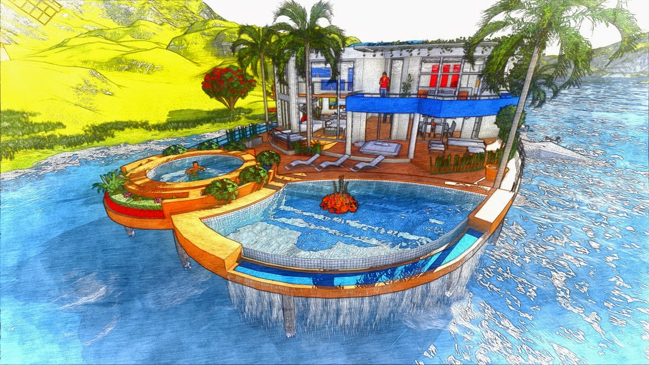 G g video o realt virtuale for Disegni casa sul lago con vista sul lago