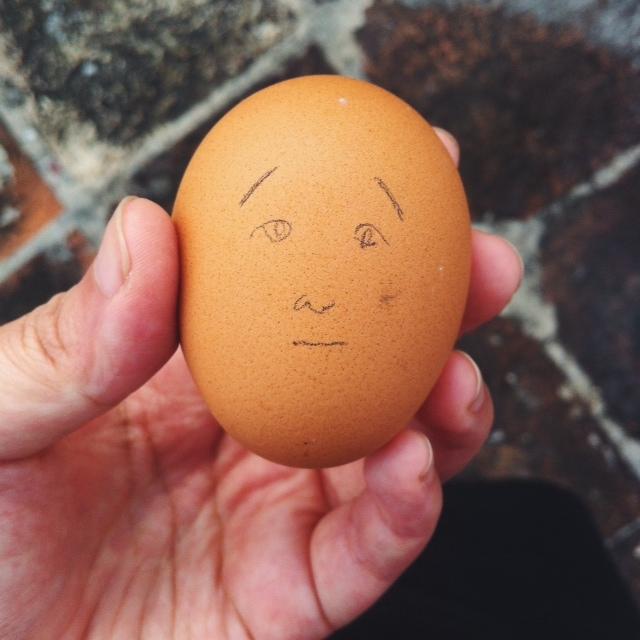 Kitty N. Wong / Andrew Zimmern Egg Portrait