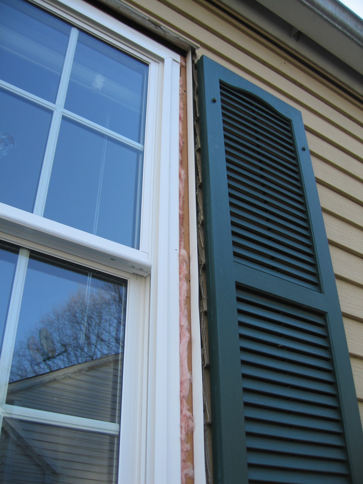 how to seal old alum window siding add flashing insulation caulking