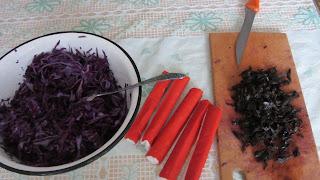 компоненты для салата из красной капусты