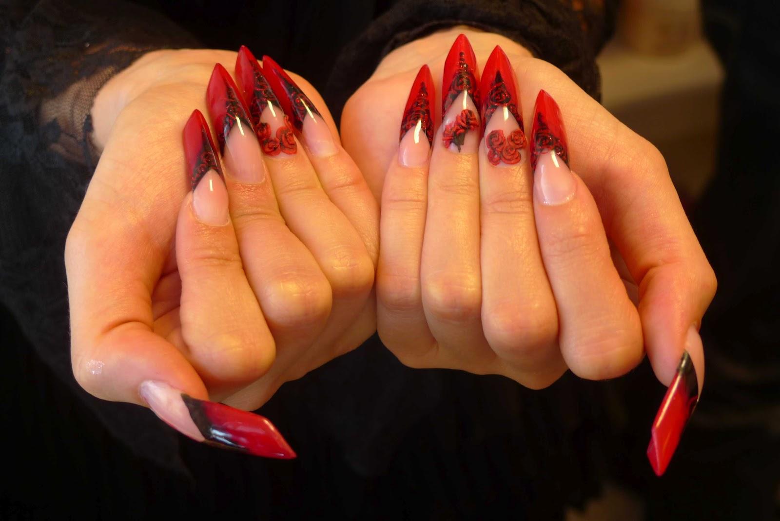 Фото дизайна ногтей форма эйдж